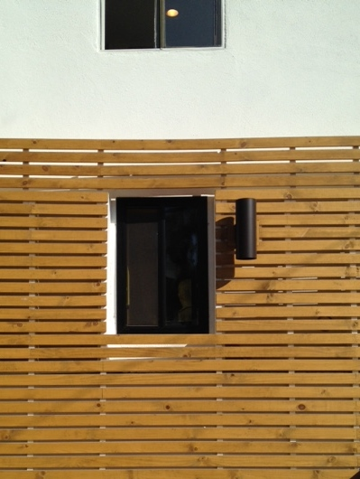 Wood on Stucco